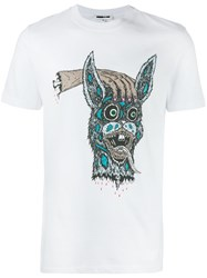 Mcq By Alexander Mcqueen Bring Me The Head Of Bunny T Shirt White