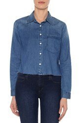 Joe's Jeans Women's Josie Crop Denim Shirt
