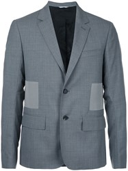 Oamc Side Panel Blazer Men Virgin Wool 50 Grey
