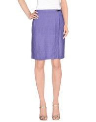 Les Copains Skirts Knee Length Skirts Women Lilac