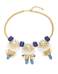 Design Lab Lord And Taylor Stone Thread Statement Necklace Pink