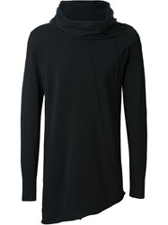 Alchemy Cowl Neck Longsleeved T Shirt Black