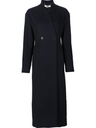 Stella Mccartney Double Breasted Coat Blue