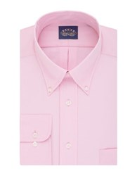 Eagle Long Sleeve Solid Dress Shirt With Flex Collar Pink