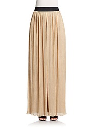 Abs By Allen Schwartz Pleated Metallic Maxi Skirt
