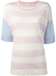 Chinti And Parker Striped Knit T Shirt Pink Purple