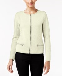 Charter Club Petite Zip Up Cardigan Only At Macy's Vintage Cream