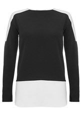 Quiz Black Crepe Long Sleeve Top