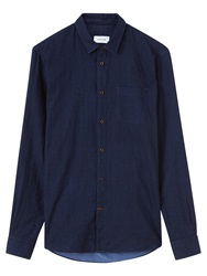 Jigsaw Double Denim Slim Shirt Indigo