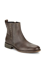 John Varvatos Rocker Button Boots Dark Brown
