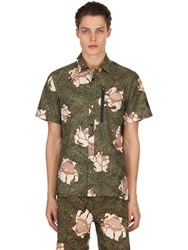 Nikelab Floral Cotton Short Sleeve Top Olive Green