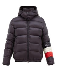Moncler Willm Hooded Quilted Down Jacket Navy