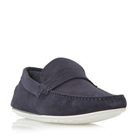 Hugo Boss C Traveso Plain Saddle Driver Loafers Navy