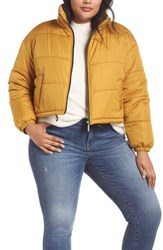 Plus Size Bp. Puffer Jacket Yellow Mineral