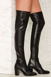 Crosswalk That's A Stretch Over The Knee Boot Black