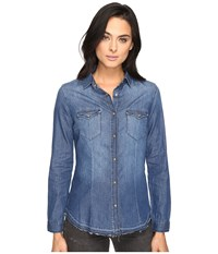 Mavi Jeans Melissa Shirt In Mid Indigo Mid Indigo Women's Clothing Blue