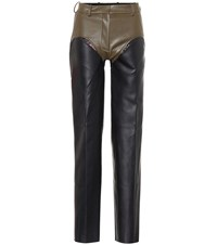Y Project Faux Leather Pants Black