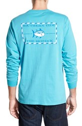 Men's Southern Tide 'Skipjack' Long Sleeve Graphic T Shirt Turquoise