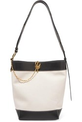 J.W.Anderson Jw Anderson Keyts Leather Trimmed Canvas Tote Beige