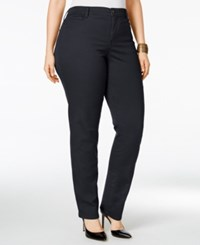 Styleandco. Style Co. Plus Size Tummy Control Slim Leg Jeans Only At Macy's Dark Grape