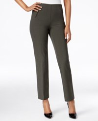 Styleandco. Style And Co. Petite Straight Leg Pull On Trousers Only At Macy's Olive Evening