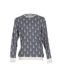 White Mountaineering Knitwear Jumpers Men Dark Blue