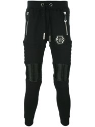 Philipp Plein Gold Card Track Pants Black