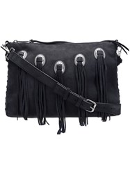 Rebecca Minkoff Fringed Cross Body Bag Blue