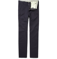 Alfred Dunhill Cotton Chinos Blue
