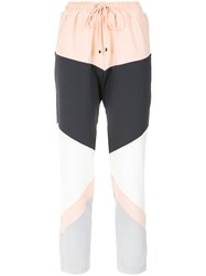 Olympiah Panelled Straight Trousers Polyester Spandex Elastane
