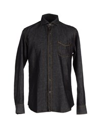 Baldessarini Denim Denim Shirts Men Black