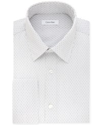 Calvin Klein Men's Steel Big And Tall Classic Regular Fit Non Iron Performance Blue Stripe French Cuff Dress Shirt Navy