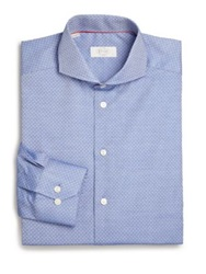 Eton Of Sweden Contemporary Fit Printed Dress Shirt Medium Blue