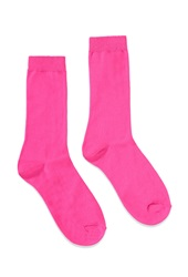 Forever 21 Classic Crew Socks Neon Pink