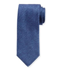 Charvet Solid Textured Silk Tie Navy