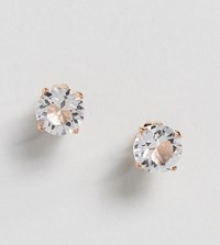 Simon Carter Round Rose Gold Stud Earrings With Crystals From Swarovski