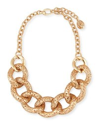 Pomellato Arabesque Carved Link Necklace In 18K Rose Gold