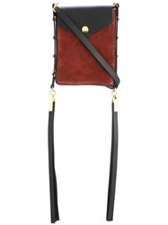 Isabel Marant Teinsy Crossbody Bag Women Calf Leather Suede One Size Black