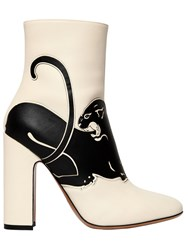 Valentino 110Mm Panther Leather Boots