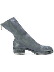 Guidi Heeled Sock Boots Horse Leather Leather Blue