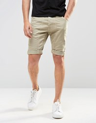 Ringspun Chino Shorts Beige Grey