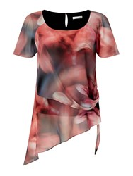 Jacques Vert Tie Sided Printed Blouse Multi Coloured Multi Coloured