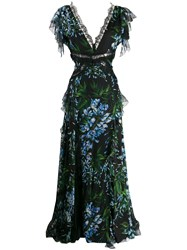 Blumarine Frilled Floral Gown 60