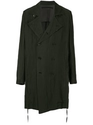 Julius Oversized Double Breasted Coat Black