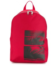 Calvin Klein Jeans Andy Warhol Photo Art Backpack Red