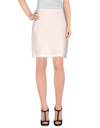 Swap Inside Skirts Knee Length Skirts Women Ivory