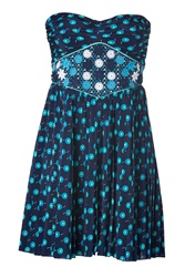 Vanessa Bruno Strapless Dress Blue