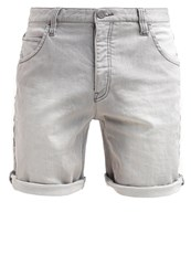 Anerkjendt Mate Denim Shorts Light Grey Grey Denim