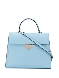 Coccinelle Large Foldover Top Tote Blue