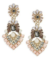 Catherine Stein Floral Cluster Drop Earrings Blush